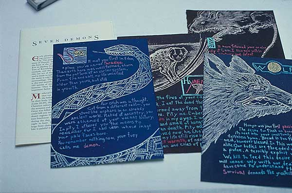 Claire Owen: Bookworks/Turtle Island Press: SEVEN GODS, SEVEN DEMONS, a bestiary